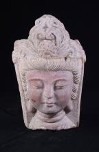 PINK MARBLE BUST OF GUANYIN