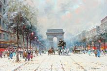 GOOD ILLEGIBLY SIGNED PARIS SCHOOL PAINTING