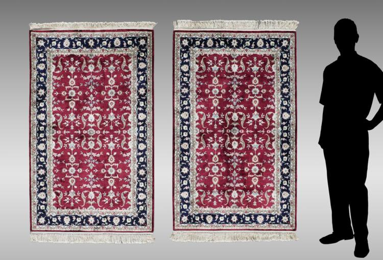 Turkish Pair Of Hk Wool Rugs 3 X 5