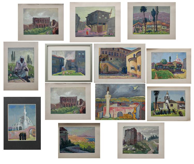 TWELVE DATCHEFF PAINTINGS
