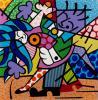 LARGE ROMERO BRITTO SERIGRAPH ''DANCERS'', Romero Britto, $200