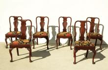 SET OF 6 QUEEN ANNE SIDE CHAIRS