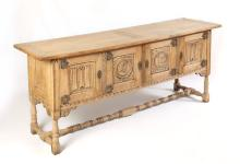 EARLY 20TH CENTURY WILLIAM FRENCH CARVED SIDEBOARD