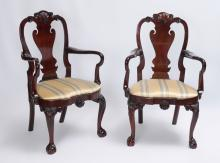 PAIR KINDEL FURNITURE WINTERTHUR COLLECTION CHAIRS