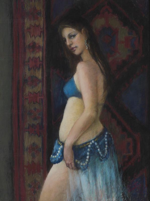 MARSHA BURNETT BOUTON PASTEL HAREM DANCER