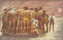 MARY FIFE LANING BEACH PAINTING