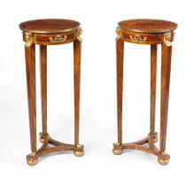 PAIR FRENCH EMPIRE STYLE PEDESTALS