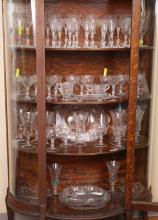 61 PIECE CAMBRIDGE ROSE POINT ETCHED GLASS