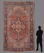 PERSIAN HERIZ HAND KNOTTED WOOL RUG, 8' 8