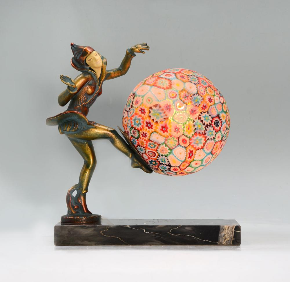 Sold Price Millefiori Art Deco Lamp Invalid Date Edt