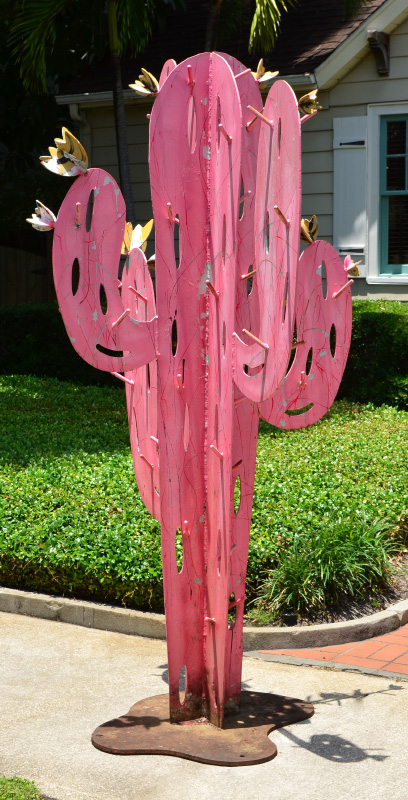 FREDERICK PRESCOTT WELDED CACTUS SCULPTURE