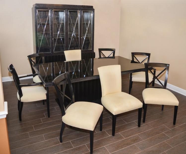 Ralph Lauren Designer Black Dining Set