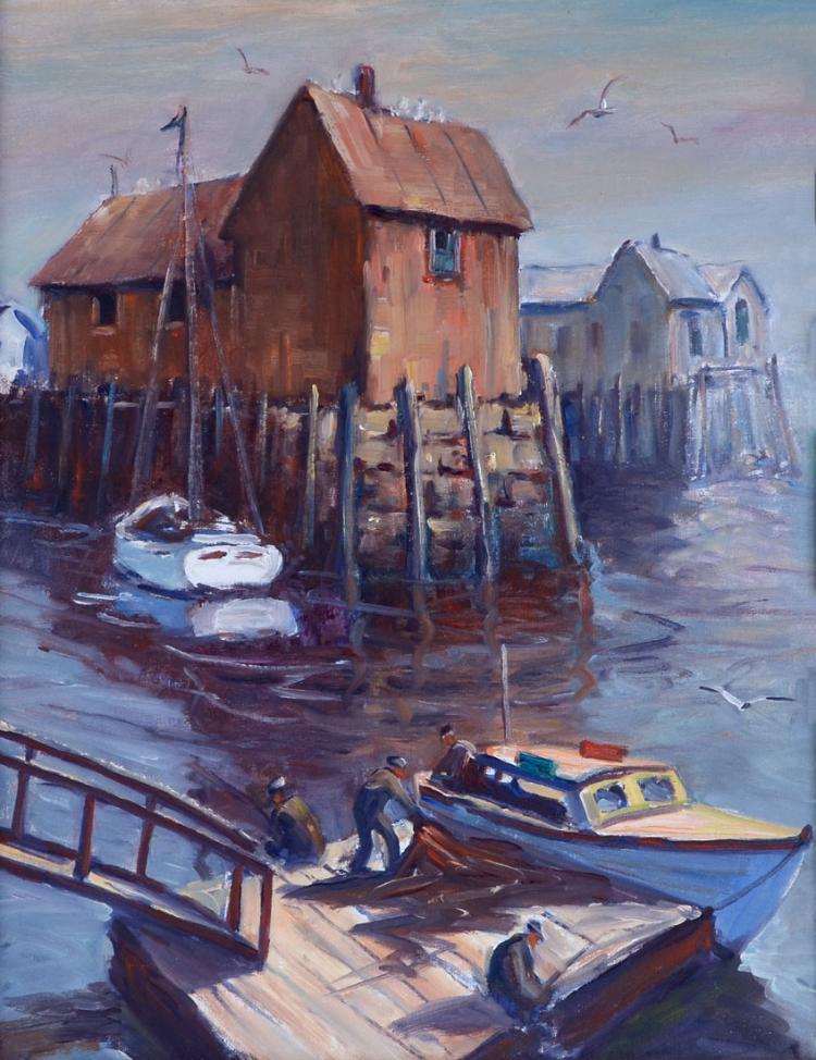ED GARBELY HARBOR PAINTING