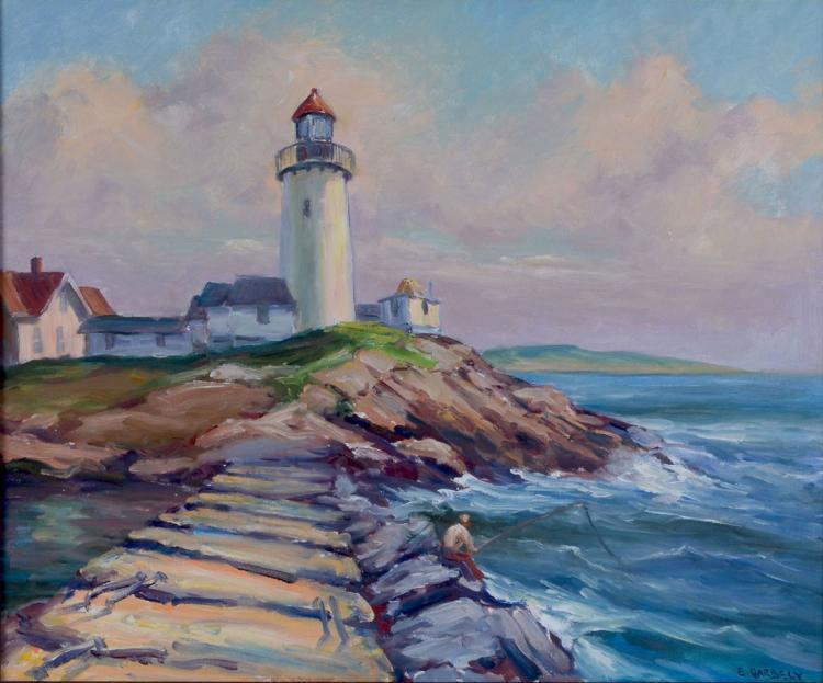 LIGHTHOUSE PAINTING BY GARBELY