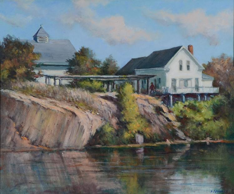GARBELY PAINTING ESTATE HOME ON THE RIVER
