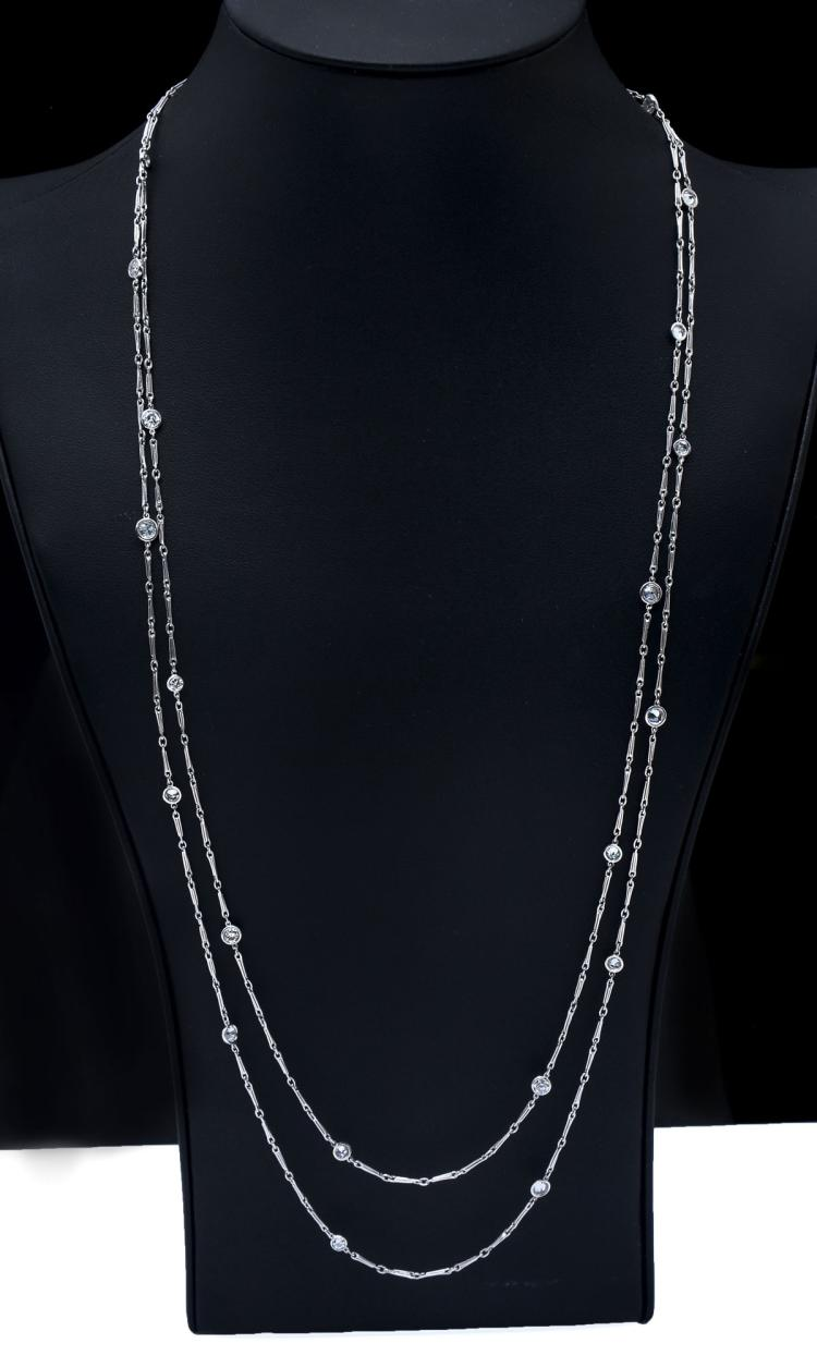 PLATINUM ART DECO 6.00 CTW DIAMOND NECKLACE