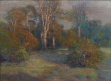 LARGE L. O. GRIFFITH PASTEL LANDSCAPE