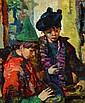 LUIGI CORBELLINI PAINTING OF TWO CHILDREN