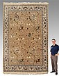 INDO-PERSIAN HAND KNOTTED WOOL RUG 25-45 YEARS OLD