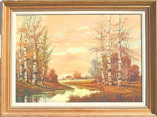 TARLTON, Bryan, (American, 1899-1962): ''Birches,