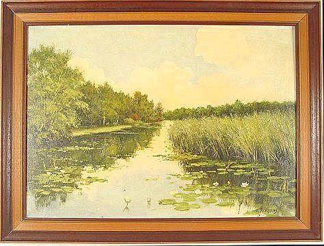 BAAIJENS, Franciscus, (Dutch, 1896-): Stream with