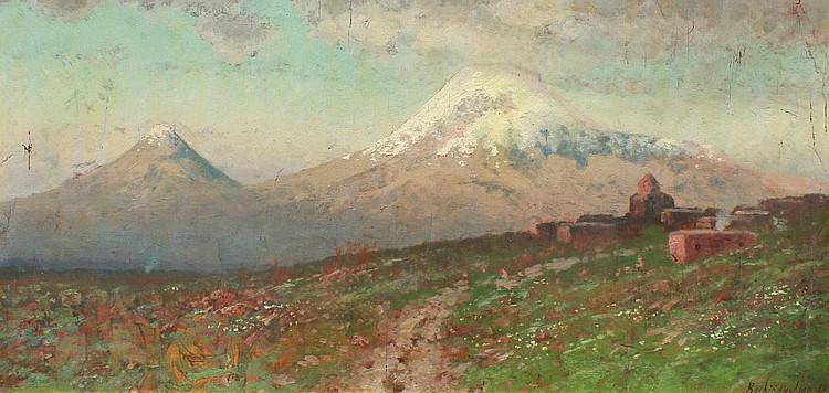 25: ARMENIAN LANDSCAPE PAINTING BACHINDJAGHIAN