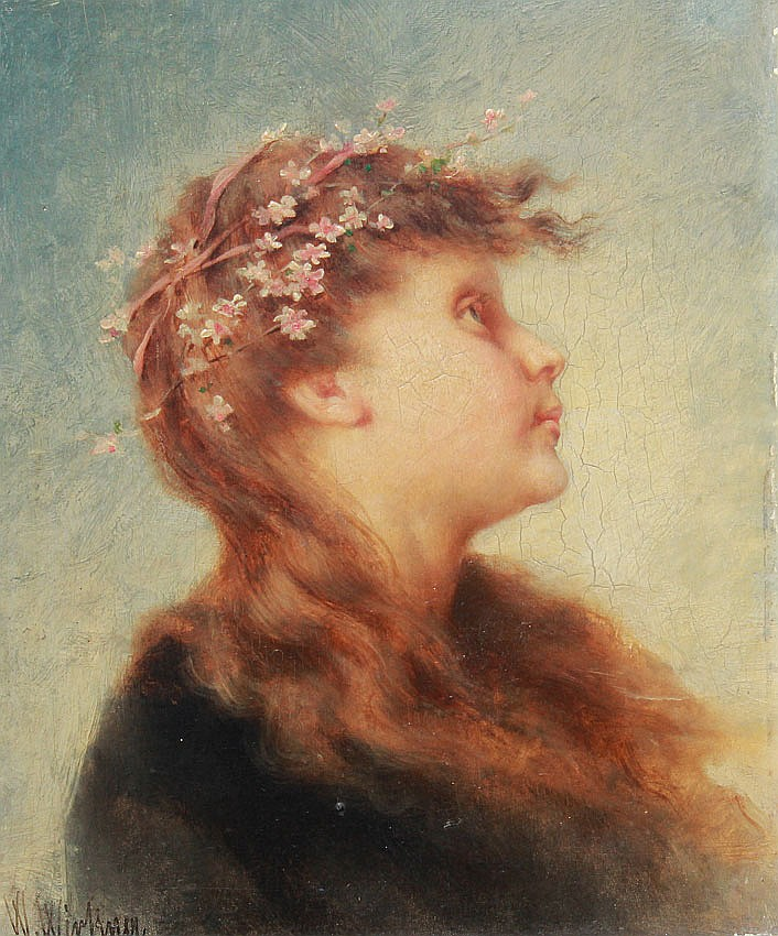 15: WENZEL WIRKNER PAINTING OF A YOUNG GIRL