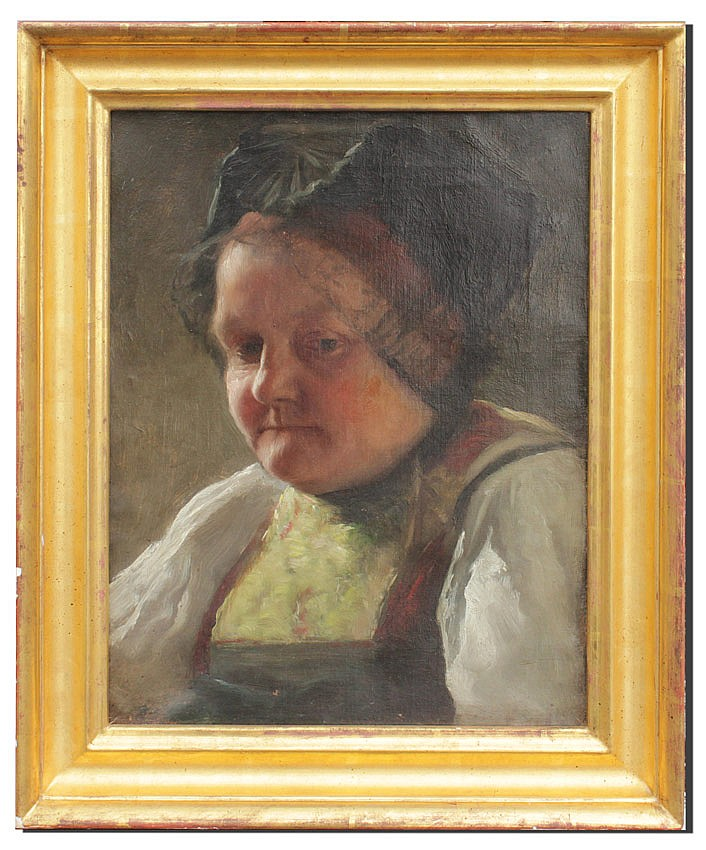 46: EXCEPTIONAL DUTCH/GERMAN PAINTING PORTRAIT OF MAID