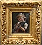 OEHMICHEN, Hugo, (German, 1843-1933): Girl with, Hugo Oehmichen, Click for value