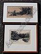 HADEN, Seymour, (British, 1818-1910): 2 Etchings, Sir Francis Seymour Haden, Click for value