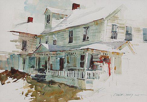 CRONEY, Claude, (American, 1926-): Street Scene