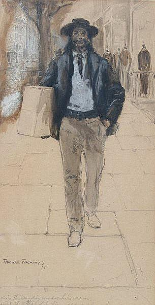 FOGARTY, Thomas, (American, 1873-1938): Man with a