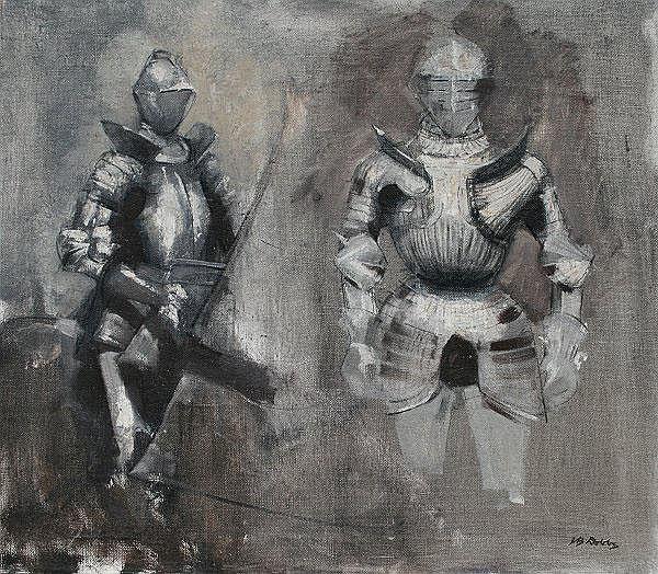 DOBBS, John Barnes, (American, 1931-): Knights