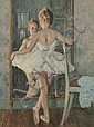 LUCIEN GRANDGERARD BALLERINA PAINTING, Lucien Henry Grandgérard, Click for value