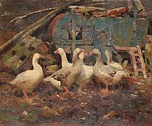 FREDERICK HALL PAINTING OF GEESE