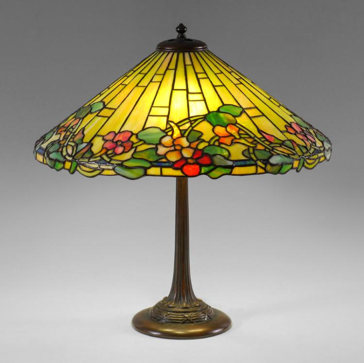 Duffner Amp Kimberly Leaded Glass Table Lamp