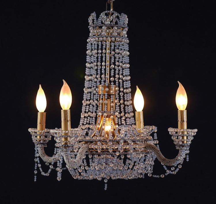 Vintage italian glass bead chandelier - Chandelier glass beads ...