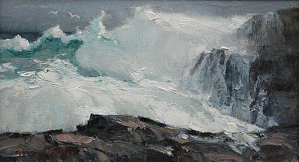 GEORGE CARPENTER SEASCAPE PAINTING