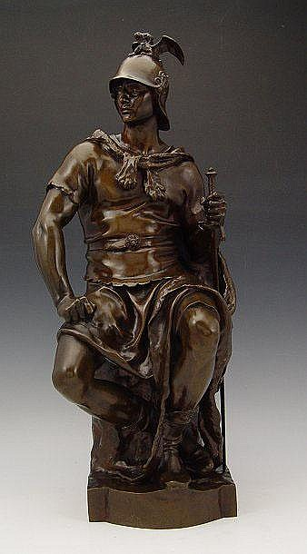 DUBOIS WARRIOR BRONZE BARBEDIENNE FOUNDRY