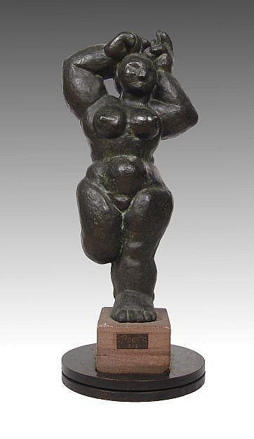 SUPERB BERNARD REDER MODERNIST NUDE BRONZE