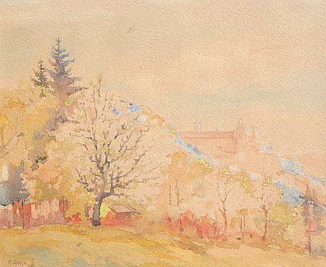 RALL, Georg, (German, 1885-): German Landscape,