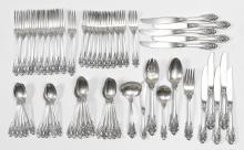 WALLACE GRAND BAROQUE STERLING SERVICE FOR 10