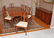HARDEN QUEEN ANNE STYLE CHERRY DINING ROOM SET