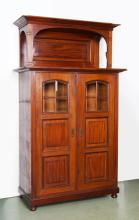 TRANSITIONAL MAHOGANY SIDE CABINET