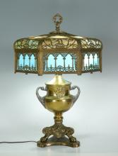 VINTAGE MILLER FILIGREE TABLE LAMP