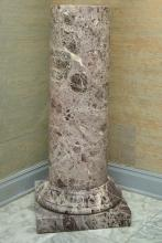 MARBLE PEDESTAL BASE 48'' TALL