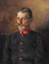 MILITARY PORTRAIT PAINTING OF GENTLEMAN SGN SEIDL