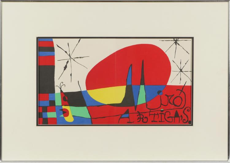 Miro lithograph from derriere le miroir for Miro derriere le miroir