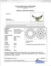 PLATINUM MID-CENTURY DIAMOND SOLITAIRE RING