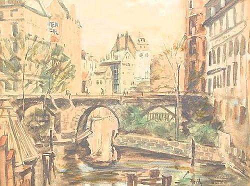 SEITZ, Otto, (German, 1846-1912): Hamburg,